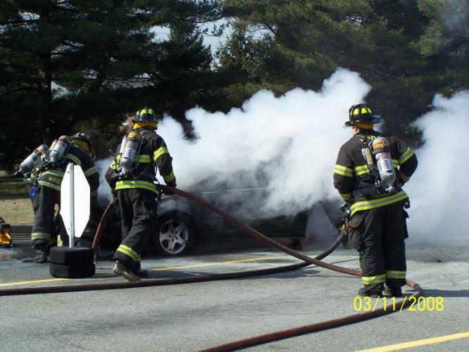 Department Of Motor Vehicles Car Fire Lodi Volunteer Fire Department