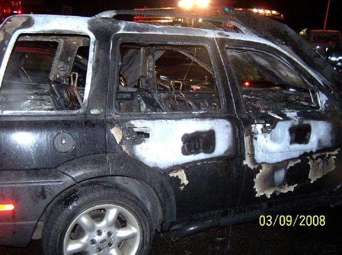 Church Street Car Fire Lodi Volunteer Fire Department