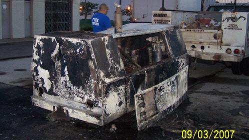 Compressor Fire Lodi Volunteer Fire Department