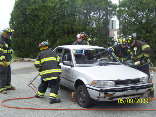 Rescue Truck Co Extrication Drill Lodi Volunteer Fire Department